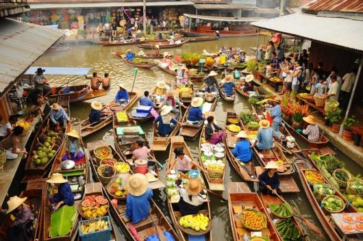 Картинки по запросу Рынок Дамноен Садуак